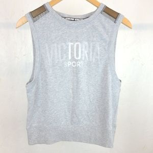 Victoria Sport Gray Active Workout Sweater Size S